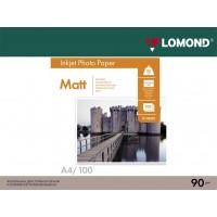 Матовая фотобумага lomond для струйной печати A4, 90 Г/М2, 100Л, односторонняя (0102001)