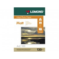 Матовая фотобумага lomond для струйной печати A4, 120 Г/М2, 100Л, односторонняя (0102003)