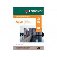 Матовая фотобумага lomond для струйной печати A3, 90 Г/М2, 100Л односторонняя (0102011)