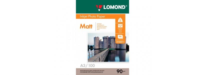 Фотопапір LOMOND А3, 90 Г/М2, 100Ар, односторонній (0102011) Матовий для струменевого друку