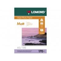 Двухсторонняя матовая/матовая фотобумага lomond для струйной печати A3, 170 Г/М2, 100Л (0102012)