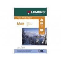 Матовая фотобумага lomond для струйной печати A4, 180 Г/М2, 50Л односторонняя (0102014)