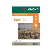 Двосторонній матовий/матовий фотопапір lomond для струменевого друку A4, 190 Г/М2, 50Ар, (0102015)