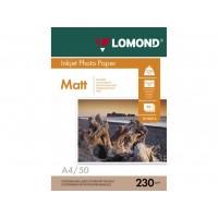 Матовая фотобумага lomond для струйной печати A4, 230 Г/М2, 50Л односторонняя (0102016)