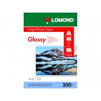 Глянцевая фотобумага lomond для струйной печати A4, 200 Г/М2, 50Л односторонняя (0102020)