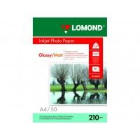 Двосторонній глянцевий/матовий фотопапір lomond для струменевого друку A4, 210 Г/М2, 50Ар, (0102021)