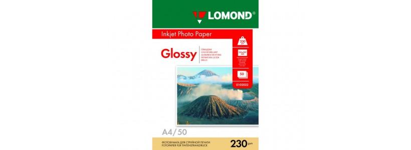 Фотобумага LOMOND A4, 230 Г/М2, 50Л односторонняя (0102022) глянцевая для струйной печати