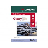 Глянцевий фотопапір lomond для струменевого друку А3, 200 Г/М2, 50Ар, односторонній (0102024)