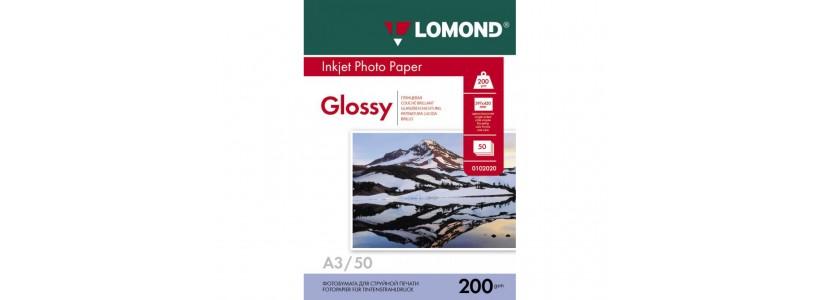 Фотопапір LOMOND А3, 200 Г/М2, 50Ар, односторонній (0102024) глянцевий для струменевого друку