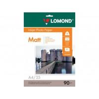 Матовая фотобумага lomond для струйной печати A4, 90 Г/М2, 25Л односторонняя (0102029)
