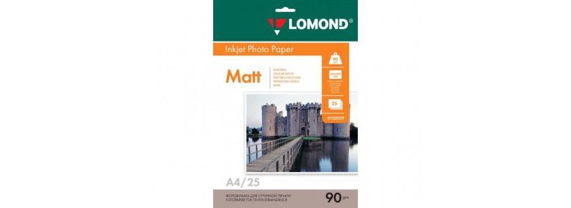 Фотопапір LOMOND A4, 90 Г/М2, 25Ар, односторонній (0102029) Матовий для струменевого друку