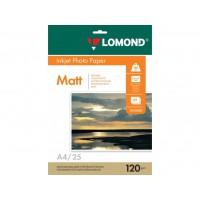 Матовая фотобумага lomond для струйной печати A4, 120 Г/М2, 25Л односторонняя (0102030)