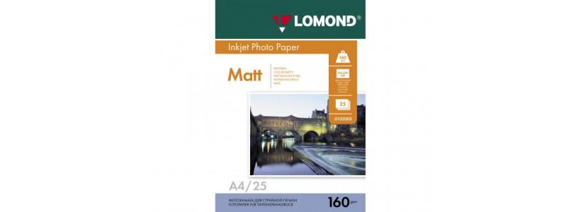 Фотопапір LOMOND A4, 160 Г/М2, 25Ар, односторонній (0102031) Матовий для струменевого друку