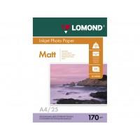 Двосторонній матовий/матовий фотопапір lomond для струменевого друку A4, 170 Г/М2, 25Ар, (0102032)