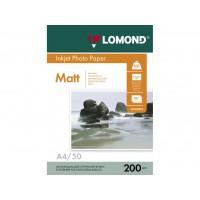 Двосторонній матовий/матовий фотопапір lomond для струменевого друку A4, 200 Г/М2, 50Ар, (0102033)