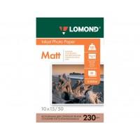 Матовая фотобумага lomond для струйной печати 10x15, 230 Г/М2, 50Л односторонняя (0102034)