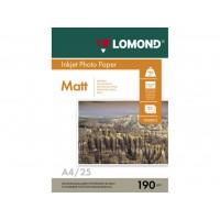 Двосторонній матовий/матовий фотопапір lomond для струменевого друку A4, 190 Г/М2, 25Ар, (0102036)