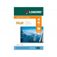 Матовая фотобумага lomond для струйной печати A4, 180 Г/М2, 25Л односторонняя (0102037)