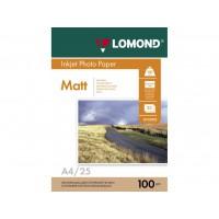 Двосторонній матовий/матовий фотопапір lomond для струменевого друку A4, 100 Г/М2, 25Ар, (0102038)