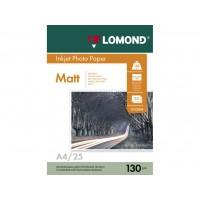 Двухсторонняя матовая/матовая фотобумага lomond для струйной печати A4, 130 Г/М2, 25Л (0102039)