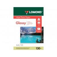 Глянцевая фотобумага lomond для струйной печати A4, 130 Г/М2, 25Л односторонняя (0102041)