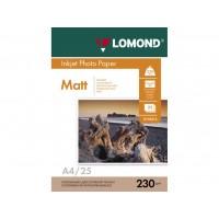 Матовий фотопапір lomond для струменевого друку A4, 230 Г/М2, 25Ар, односторонній (0102050)