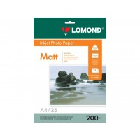 Двосторонній матовий/матовий фотопапір lomond для струменевого друку A4, 200 Г/М2, 25Ар, (0102052)