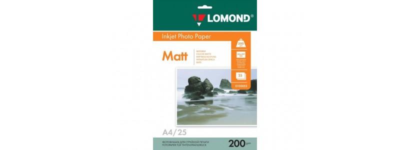 Фотопапір LOMOND A4, 200 Г/М2, 25Ар (0102052) Двосторонній матовий/матовий для струменевого друку