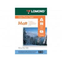 Матовая фотобумага lomond для струйной печати 10x15, 180 Г/М2, 50Л односторонняя (0102063)