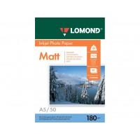 Матовая фотобумага lomond для струйной печати A5, 180 Г/М2, 50Л односторонняя (0102068)
