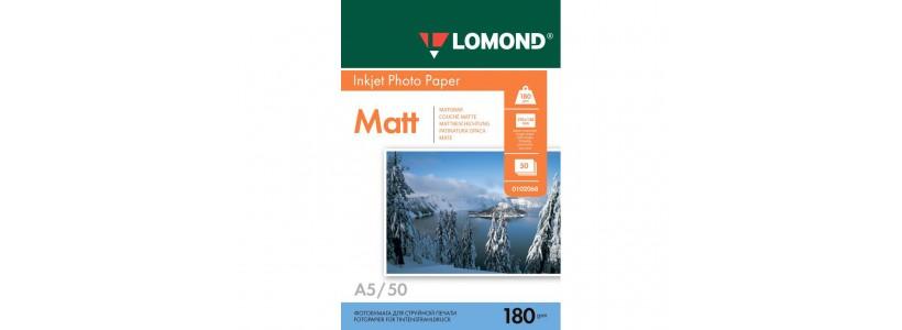 Фотопапір LOMOND А5, 180 Г/М2, 50Ар, односторонній (0102068) Матовий для струменевого друку