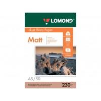 Матовая фотобумага lomond для струйной печати A5, 230 Г/М2, 50Л односторонняя (0102069)