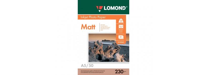 Фотопапір LOMOND А5, 230 Г/М2, 50Ар, односторонній (0102069) Матовий для струменевого друку