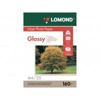 Глянцевий фотопапір lomond для струменевого друку A4, 160 Г/М2, 25Ар, односторонній (0102079)