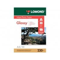 Двухсторонняя глянцевая/глянцевая фотобумага lomond для струйной печати A4, 220 Г/М2, 50Л (0102089)