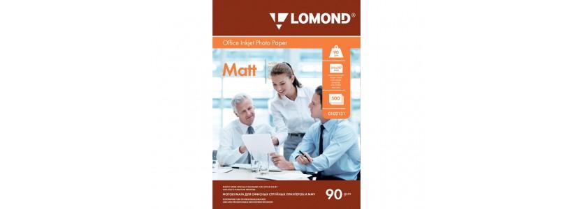 Фотобумага LOMOND A4, 90 Г/М2, 500Л односторонняя (0102131) Матовая для струйной печати