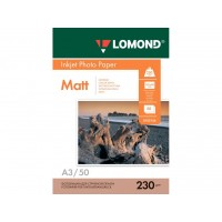 Матовая фотобумага lomond для струйной печати A3, 230 Г/М2, 50Л односторонняя (0102156)