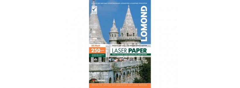 Фотобумага lomond A4, 250 Г/М2, 150Л  (0300441) Двухсторонняя матовая/матовая для лазерной печати