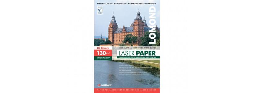 Фотобумага lomond A4, 130 Г/М2, 250Л  (0310141) Двухсторонняя глянцевая/глянцевая для лазерной печати