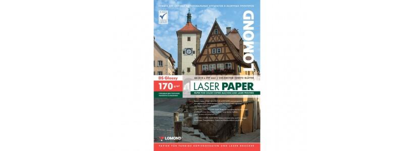 Фотобумага lomond A4, 170 Г/М2, 250Л  (0310241) Двухсторонняя глянцевая/глянцевая для лазерной печати