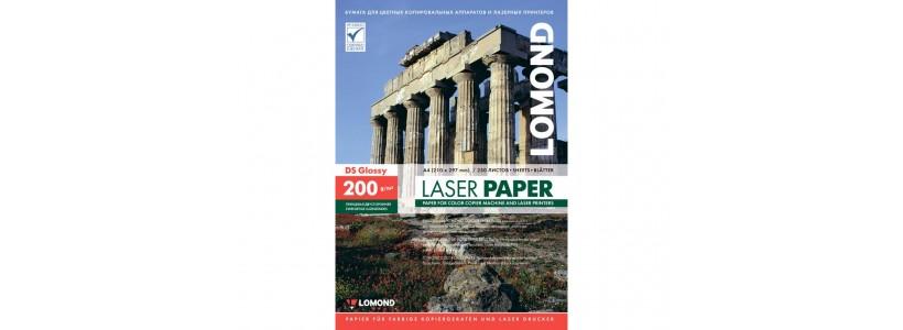Фотобумага lomond A4, 200 Г/М2, 250Л  (0310341) Двухсторонняя глянцевая/глянцевая для лазерной печати