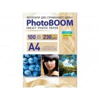 Глянцевая фотобумага Photoboom для струйной печати A4, 230 Г/М2, 100Л (G1042)