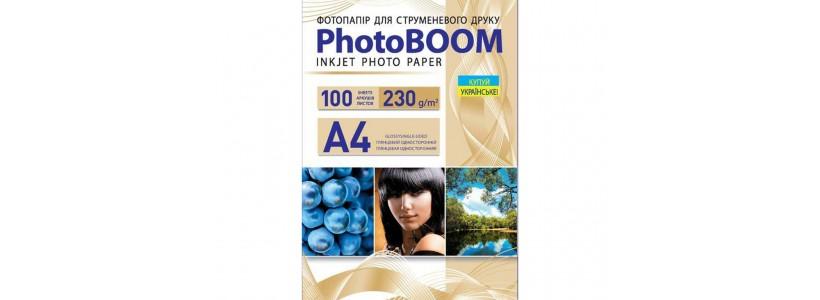 Фотобумага PHOTOBOOM A4, 230 Г/М2, 100Л (G1042) глянцевая для струйной печати