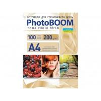 Глянцевий фотопапір Photoboom для струменевого друку А4, 200 Г/М2, 100Ар, односторонній (G1044)