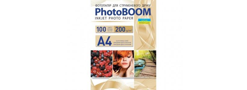 Фотобумага PHOTOBOOM A4, 200 Г/М2, 100Л (G1044) глянцевая для струйной печати