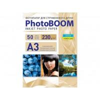 Глянцевий фотопапір Photoboom для струменевого друку А3, 230 Г/М2, 50Ар, односторонній (G3053)