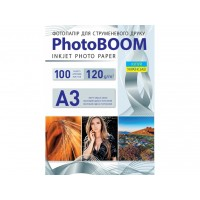 Матовий фотопапір Photoboom для струменевого друку А3, 120 Г/М2, 100Ар, односторонній (M1032)