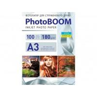 Матовий фотопапір Photoboom для струменевого друку A3, 180 Г/М2, 100Ар, односторонній (M1034)