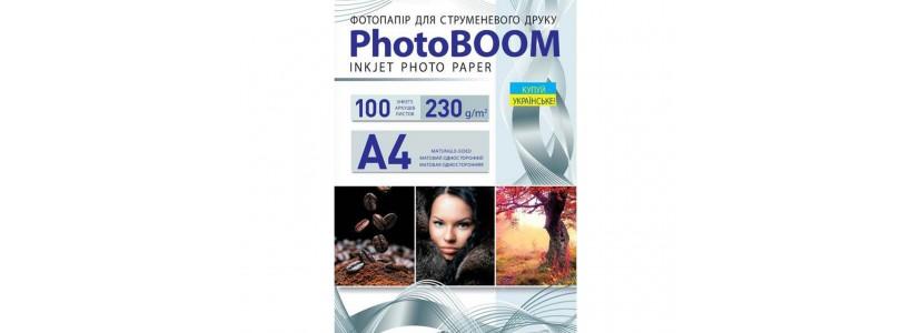 Фотобумага PHOTOBOOM A4, 230 Г/М2, 100Л односторонняя (M1045) матовая для струйной печати