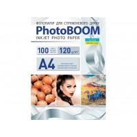 Матовий фотопапір Photoboom для струменевого друку А4, 120 Г/М2, 100Ар, односторонній (M1049)